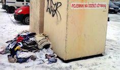 Bezdomni wyciągają używaną odzież z pojemników! Wasza informacja | Świnoujście w sieci