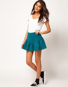 ASOS Cute Mini Skirt With Side Frill