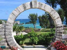 stone Moon Gate in Caribbean Islands!