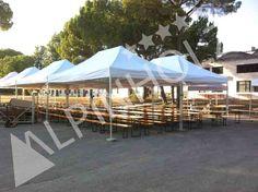 Alquiler de mesas para catering, mesas y bancos plegables de Alpinholz