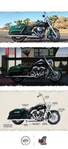 This menacing motorcycle rules with an iron fist. | 2016 Harley-Davidson Road King #harleydavidsonroadking