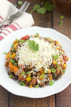 Slow Cooker Tex Mex Quinoa Casserole - a healthy, creative way to enjoy quinoa in your slow cooker!