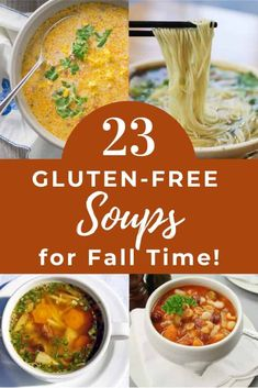 The Best Gluten-Free Fall Soups - Bliss Health Coaching Entree Recipes, Low Carb Recipes, Dinner Recipes, Healthy Recipes, Healthy Meals, Gluten Free Lasagna, Gluten Free Soup, Dairy Free, Homemade Vegetable Soups