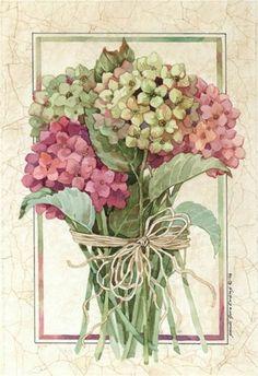 bouque d'hortensias,