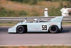 Can Am 1972 . Road Atlanta . Peter Gregg in his Porsche 917-10.