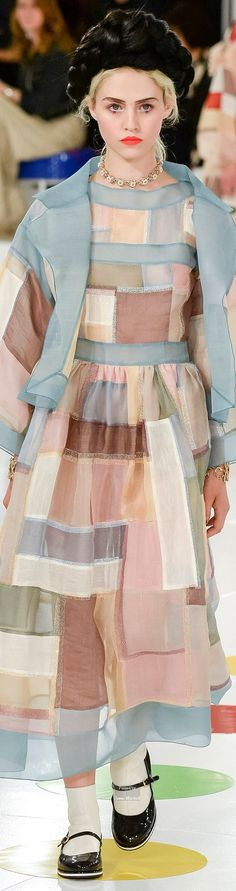 Chanel Pre Spring 2016 collection.  Pojagi inspired patchwork clothing, organza.