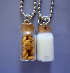 Milk and Cookie Best Friends Necklace by thegreatvorelli on Etsy, $17.00