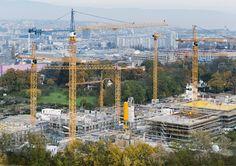Liebherr - A fleet of Liebherr Tower Cranes in Geneva, Switzerland