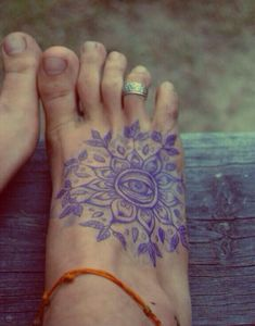 Really simple, yet complex foot tattoo.
