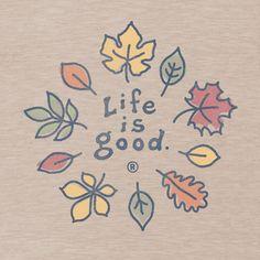 Women's Fall Leaves Short Sleeve Crusher Tee |Leaves Tee Shirts | Life is good #LifeisgoodFallFaves