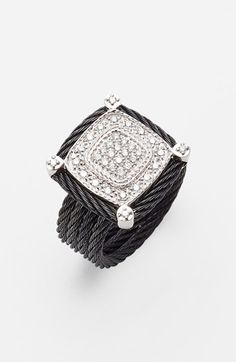 Charriol 'Celtic Noir' Pavé Cocktail Ring available at #Nordstrom