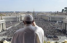 VATICAN CITY (AP) - Pope Francis tempered his Easter Sunday message of Christian hope with a denunciation of 'blind' terrorism, recalling victims of attacks in Europe, Africa and elsewhere, as well as expressing dismay that people fleeing war or poverty are being denied welcome as European countries squabble over the refugee crisis.
