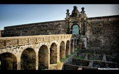 Castelo S.João Baptista, situado no Monte de Brasil, na ilha Terceira, um dos monumentos históricos da cidade Património Mundial, Angra do Heroismo.
