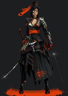 ArtStation - Samurai, Kyung Han Kim
