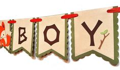 Woodland Theme Banner - Woodland Critter Birthday Banner - Woodland Garland - It's A Boy Banner - Woodland Baby Shower - Woodland Party