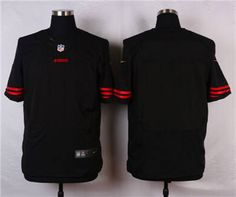 f6b3bc57 coupon code for nike san francisco 49ers blank black alternate elite jersey  1852d af7b3