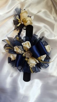 Black Amp Champagne Corsage Amp Boutonniere Set Wedding Or Prom