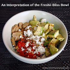 An Interpretation of the Freshii Bliss Bowl from InSearchOfYummyness.com #Rice #Mushrooms #Avocados