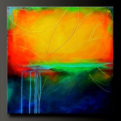 Primary Colors - 24 x 24 - Original Modern Acrylic Abstract Painting - Fine Art $ 375.00, via Etsy.