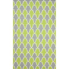 nuLOOM Flatweave Modern Trellis Green Wool Rug (7'6 x 9'6) | Overstock™ Shopping - Great Deals on Nuloom 7x9 - 10x14 Rugs