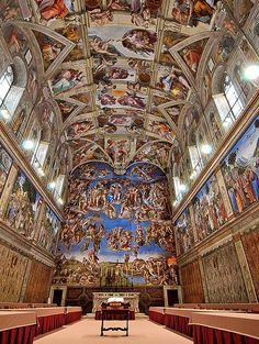 Been here, but I wasn't allowed to take a picture. The Sistine Chapel - from the creation to Noah in 175 individual paintings covering 12,000 square feet.
