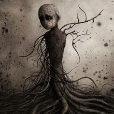 Femme Arbre by *monstror Digital Art / Drawings / Macabre & Horror Dark Fantasy Art, Dark Gothic, Gothic Art, Arte Horror, Horror Art, Art Sinistre, Kunst Tattoos, Ems Tattoos, Art Noir