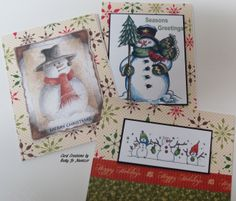 Christmas Cards - digi graphics and papers