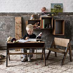 Kinder-Schreibtisch Geo's Table von We Do Wood aus Dänemark - Møbla