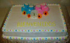 pastel para baby shower, zapatitos