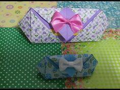 469.삼각상자접기.오월의장미.origami.종이접기.상자접기 - YouTube