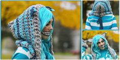 CROCHET CHESHIRE CAT HOODIE [FREE PATTERN] As winter approaches, the need to bundle up becomes more prevalent. From top to bottom, we pile on layers to keep ourselves from the bitter cold.
