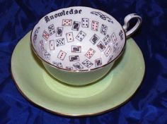 1920's fortune telling tea cup  I use to have a collection of fortune telling cups
