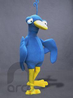 Botargas de Animales: AVES. Pájaro Urby ¡Conoce más modelos de botargas de animales aquí!: http://www.grupoarco.com.mx/venta-de-botargas/botargas-de-animales-en-mexico/