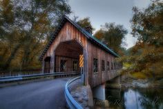 """Emerts Cove Covered Bridge"" is located near Gatlinburg Tennessee."