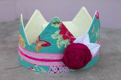 Fabric Crown - Princess Butterfly