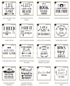 Limited Time Offer - All Files In The Shop - SVG Bundle example image 14 Funny Quotes, Life Quotes, Qoutes, Tile Crafts, Diy Signs, Funny Signs, Printable Wall Art, Free Printable Quotes, Wall Art Quotes
