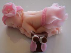 Baby Girl Topper  on Cake Central