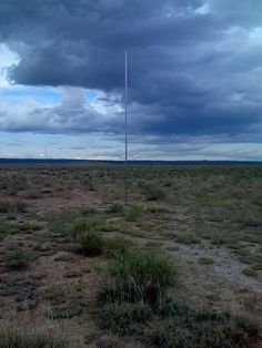 Walter De Maria: The Lightning Field, 1977 Land art work in Catron County, New Mexico.