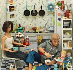 """When my friends and I played """"Barbie"""" we for real had it set up all crazy like this!!"""
