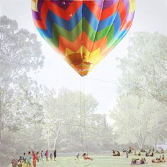 Balloon swing for children proposed for a sculpture park in New York.