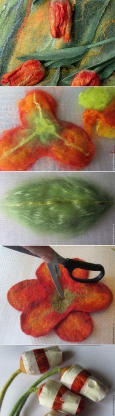 Делаем почти настоящие тюльпаны из войлока - Ярмарка Мастеров - ручная работа, handmade