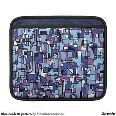Blue confetti pattern sleeves for iPads
