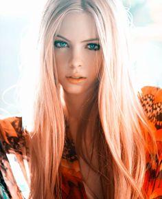 pastel orange hair