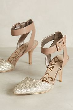 221dfb1c078ec Give your trusty nude pumps a makeover with these sparkly ankle strap heels  from Sam Edelman