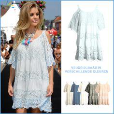 Deze zomerse jurk is perfect voor een zonnige dag als vandaag! Shop nu via https://www.bobotremelo.be/webshop/jurken/korte-jurken/lichtblauwe-jurk.8908
