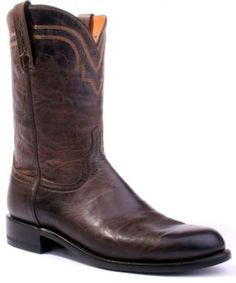 Mens Lucchese Mad Dog Roper Boots Chocolate #T0122 via @Allens Boots
