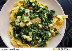 Na másle a trochu oleje osmažíme kuřecí kousky dozlatova a dáme je bokem.  Poté osmažíme na jemno nakrájenou cibulku, až zezlatoví, přidáme zmražen... Sprouts, Broccoli, Vegetables, Food, Vegetable Recipes, Eten, Veggie Food, Brussels Sprouts, Meals