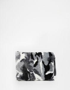 Nali - Pochette en fausse fourrure - Camouflage monochrome