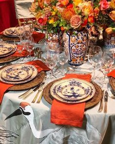 Had the most fun creating this table for the Lenox Hill Gala last night. It was so special from the hand painted table cloth with water… Entertainment Table, Beautiful Table Settings, Table Arrangements, Deco Table, Decoration Table, Thanksgiving Table, Home Interior, Interior Design, Dinner Table