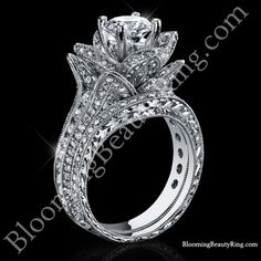 [ Large Hand Engraved Blooming Beauty Wedding Ring Set Bbren Set 22 ] - Best Free Home Design Idea & Inspiration Halo Engagement Rings, Antique Engagement Rings, Designer Engagement Rings, Engagement Ring Settings, Cool Wedding Rings, Wedding Band, Ring Ring, Just In Case, Celtic